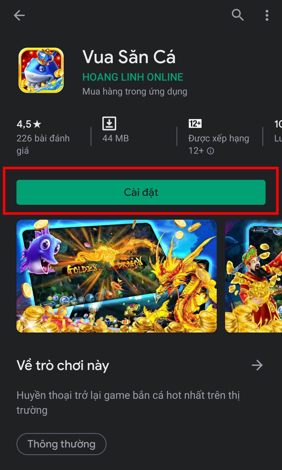 Tải trò chơi Vua săn cá trên Android 03
